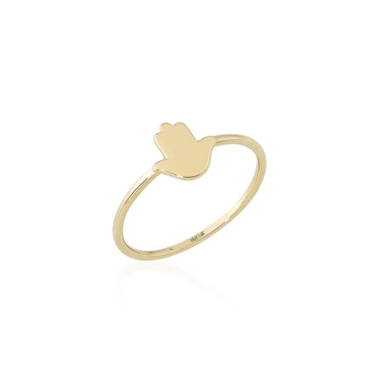 Elef Takı - Fatma Ana Eli Figürlü 14 Ayar Altın Şans Yüzüğü (1)