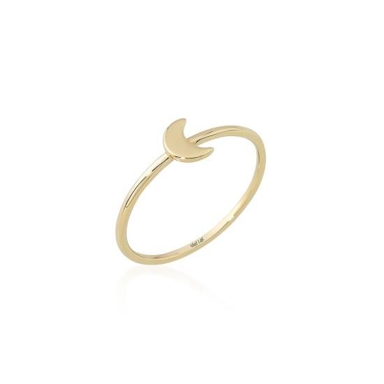 Elef Takı - Hilal Figürlü 14 Ayar Altın Şans Yüzüğü (1)