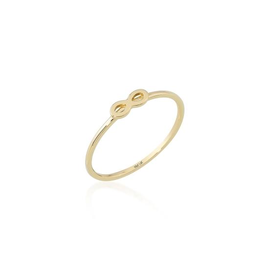 Elef Takı - Sonsuzluk Figürlü 14 Ayar Altın Şans Yüzüğü (1)