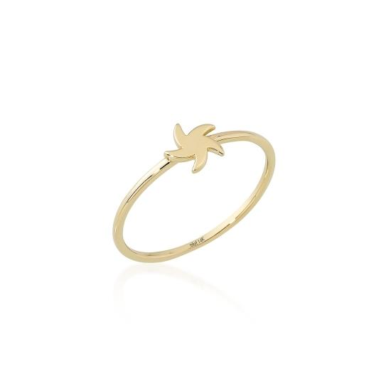 Elef Takı - Yıldız Figürlü 14 Ayar Altın Şans Yüzüğü (1)